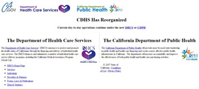 state of california medical website