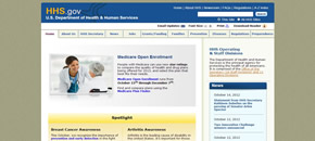 US Department of Health and Human Services Website